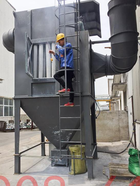 上海奇彩塑胶原料废气处理工程