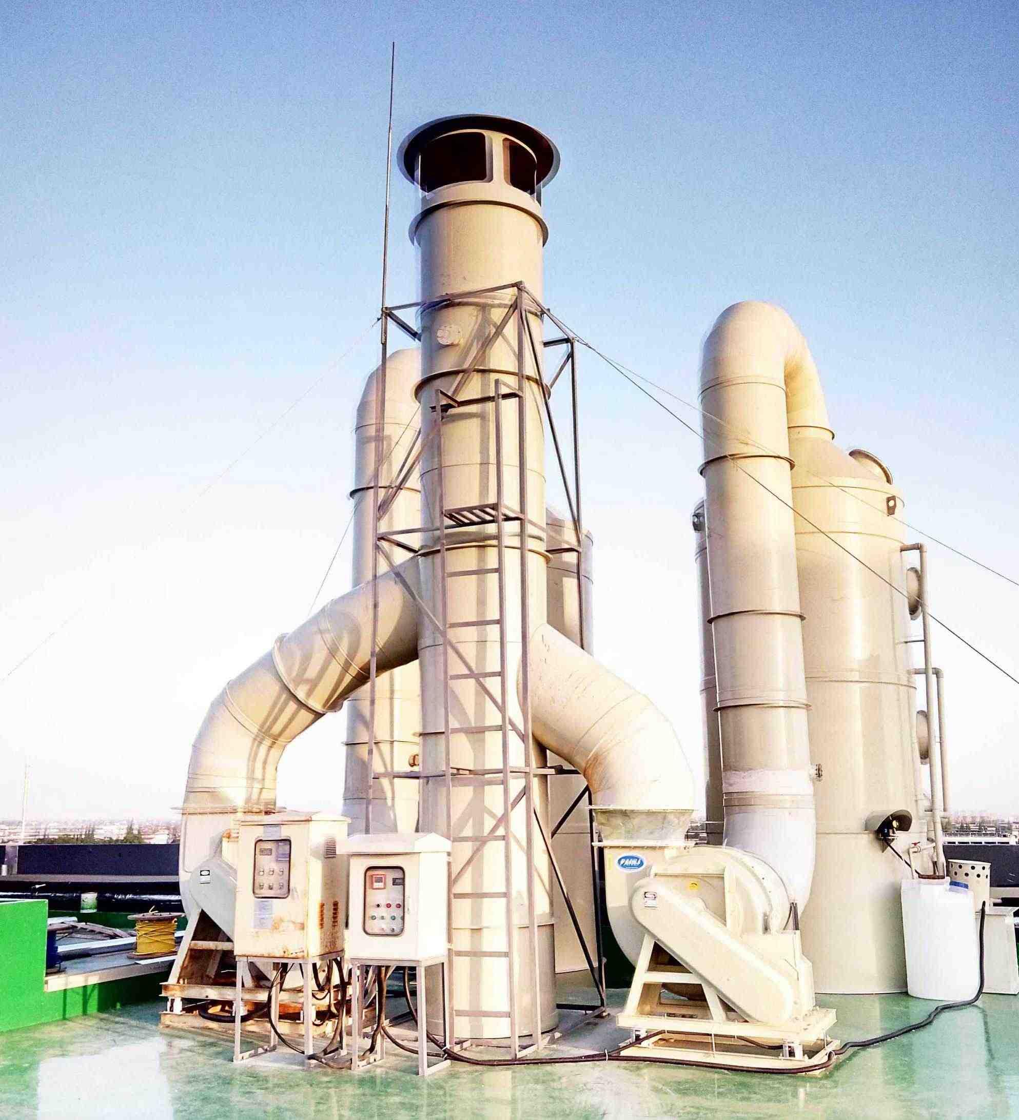 浙江衢州大型化工厂废气处理工程