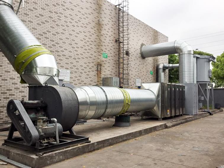 大型台资厂涂料油墨废气处理工程