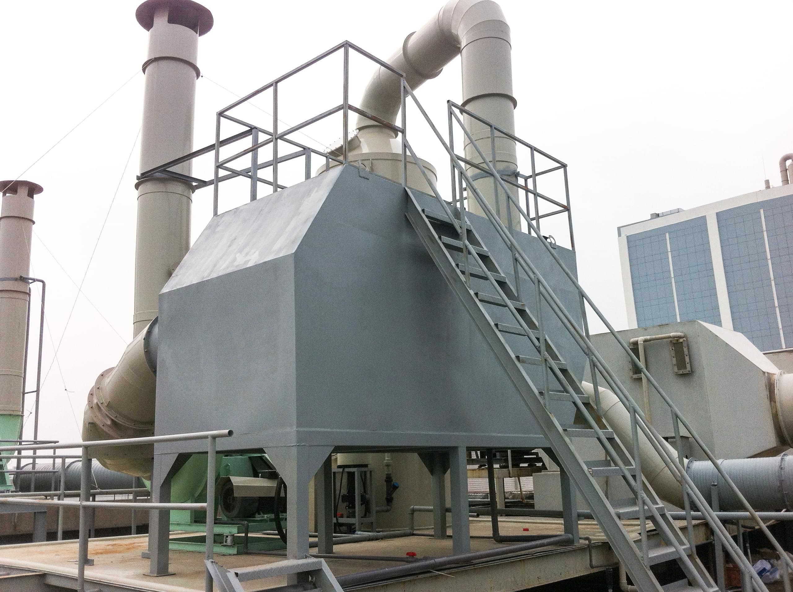 除雾器+活性炭吸附脱附解决方案