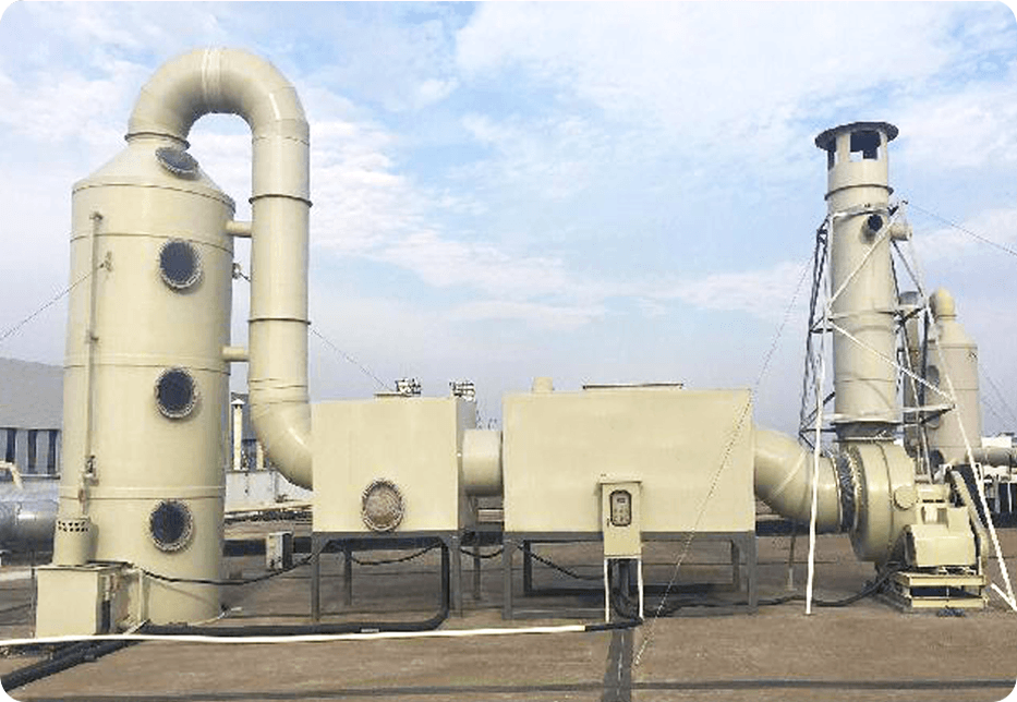 喷漆废气处理:旋流板塔+除雾器+活性炭吸附