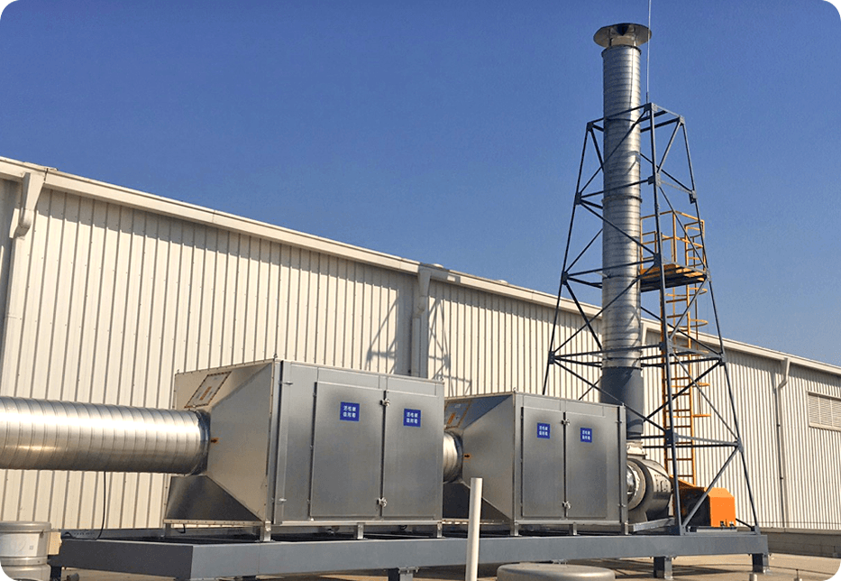 注塑废气处理:风罩收集+初效过滤器+活性炭吸附+活性炭吸附