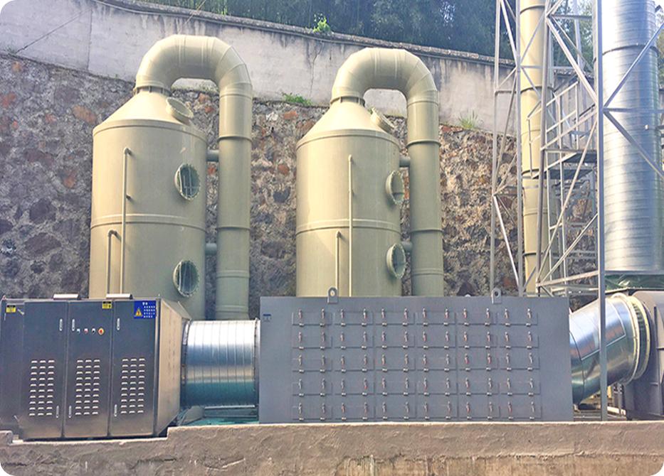VOCs废气处理:旋流板塔+活性炭吸附