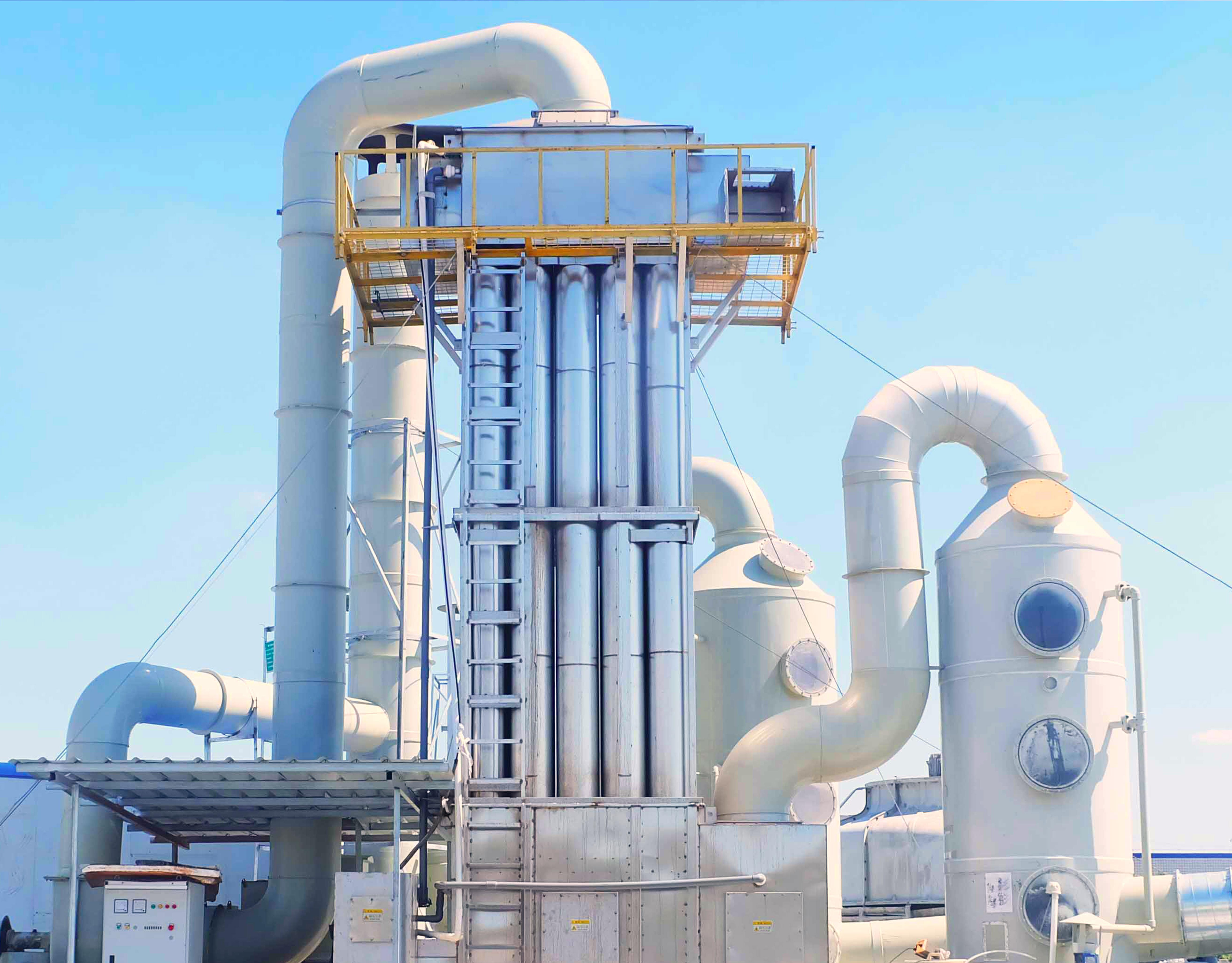 喷锡除尘设备:湿法除尘器+静电除油